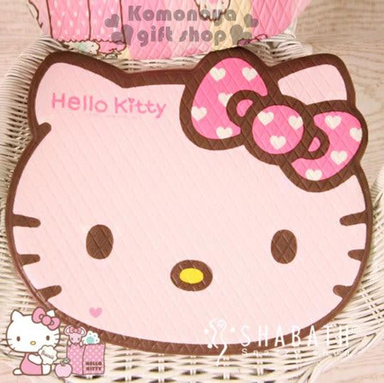 〔小禮堂韓國館〕Hello Kitty 造型坐墊《小.軟式.粉.大臉型.愛心蝴蝶結》居家.汽車內使用 8805830-07123