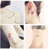 紋身貼 紋身貼防水 女持久韓國仿真英文花朵逼真手臂腳踝 可愛性感共50張 玩趣3C