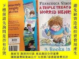 二手書博民逛書店a罕見triple treat of horrid henry 三重對待可 怕的亨. 利 Y200392