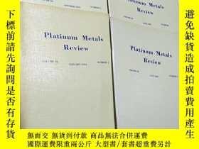 二手書博民逛書店Platnum罕見Metals Review volumes38 number 1-4,共4本Y403679