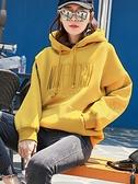 2020年新款秋冬季連帽加絨加厚連帽T恤女士韓版寬鬆上衣爆款外套2021 快意購物網