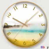 【Bbay】 掛鐘 簡約色彩 圖案 鐘表 時尚時鐘 掛鐘