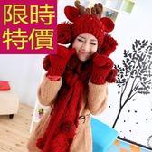 圍巾+毛帽+手套羊毛三件套-氣質大方正韓溫暖女配件63n41[巴黎精品]