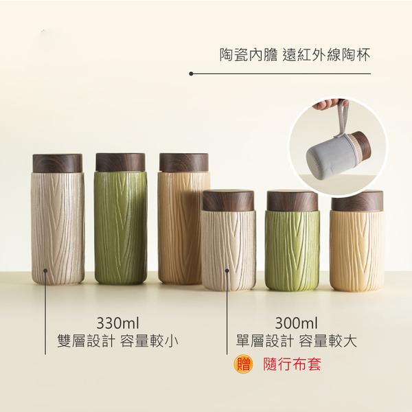 陸寶【森活隨身陶杯】大330ml 抹茶/蒙布朗/焦糖 雙層健康陶杯
