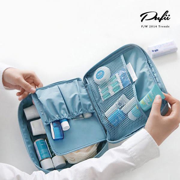 PUFII- 收納包 可拆內隔層立體化妝包收納袋 5色 - 0918 現+預【AP6201】