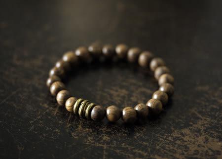 檀木質珠子手鏈民族古樸飾品/設計家分店