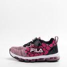 FILA  兒童慢跑鞋-黑/粉 3-J808S-505