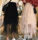 2020新款chic港味網紗半身裙氣質蛋糕裙女裝氣質中長裙A字裙 3C優購