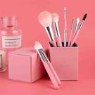 【日本代購】 Amoore 8支化妝筆化妝刷套裝化妝刷套裝化妝刷子帶收納盒 -  粉