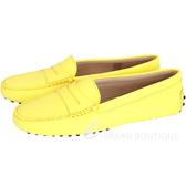 TOD'S GOMMINO MOCASSINO 經典牛皮豆豆休閒鞋(女鞋/黃色) 1440255-66