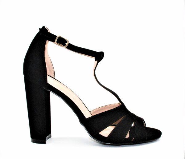 GLAZE 原色女神T字繫帶鏤空金屬釦帶繫踝高跟涼鞋-3色『黑色下標區』