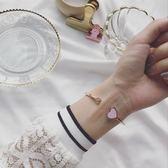森雅誠品 歐美個性愛心手鐲女款玫瑰金色桃心手環日韓時尚潮人飾品生日禮物