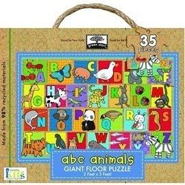 【麥克書店】ABC ANIMAL  *3歲以上幼兒 *愛地球‧木質拼圖*