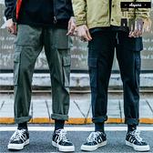 休閒褲 立體側邊大口袋美式寬版工作褲【A88900】休閒長褲