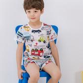 韓國進口 兒童居家服 夏涼感純棉短袖上衣+短褲 童裝(正韓)【HK0001】
