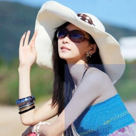 [協貿國際]  女士夏天防曬遮陽帽沙灘帽 (1入)