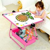 兒童畫板磁性家用小黑板涂鴉板支架式畫架雙面寫字學習2歲3歲白板igo  莉卡嚴選