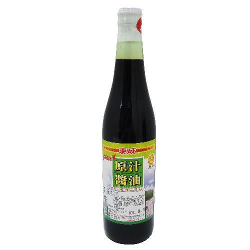 東成 原汁醬油 520CC 玻璃瓶