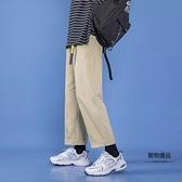 闊腿牛仔褲男直筒寬鬆墜感學生長褲子【聚物優品】