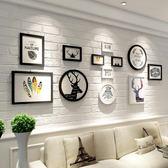 客廳組合創意裝飾歐式沙發背景墻餐廳麋鹿墻畫LK1929『黑色妹妹』