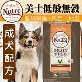 【zoo寵物商城】美士低敏無穀》成犬配方(農場鮮雞+扁豆、地瓜)24磅/10.8kg