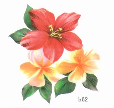 薇嘉雅 玫瑰花 超炫圖案紋身貼紙 b62