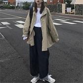 大衣新款秋冬季2020韓版寬鬆百搭中長款小個子上衣女工裝風衣外套 【新年狂歡購】