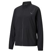 PUMA 女款黑色慢跑系列 FAV立領風衣外套 52018501