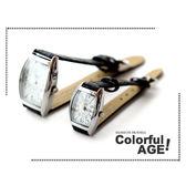 柒彩年代【NE203】范倫鐵諾情人節主打錶款~方型酒桶情侶對錶~單隻售價