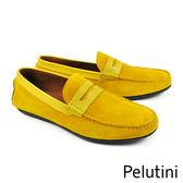 【Pelutini】時尚麂皮樂福鞋 黃色(7648-YES)