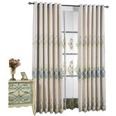 歐式繡花奢華時尚客廳臥室窗簾落地窗成品布定制現代簡約   八折免運 最後一天