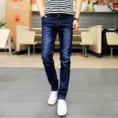 牛仔褲 新款彈力男士牛仔褲男修身小腳褲黑色休閒直筒褲子男韓版潮流
