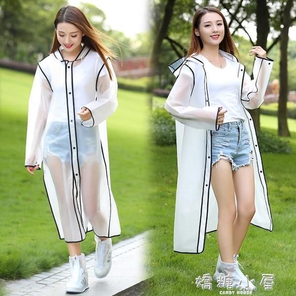 透明雨衣成人戶外雨衣時尚雨披套裝男女長款徒步雨衣旅行網紅雨衣  嬌糖小屋