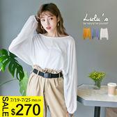 LULUS-P透膚縮袖上衣-3色  現【01017769】