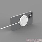 無線充電盤 Semapa適用于蘋果12無線充充電器Magsafe磁吸式快充12ProMax手機專用磁力Mini無限iPhone suger