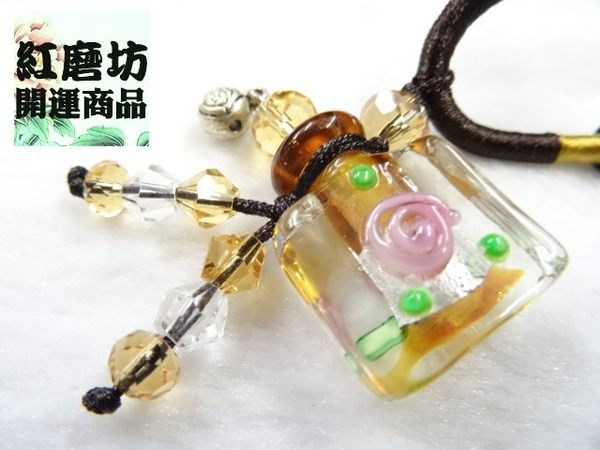 【Ruby工作坊】NO.37Y黃方精油瓶中國結項鍊