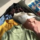 高領毛衣馨幫幫素色修身花邊領長袖半高領內搭打底衫女秋冬針織衫毛衣上衣 曼慕衣櫃