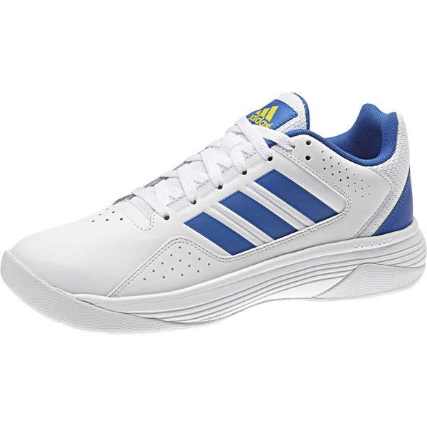 Adidas Cloudfoam Ilation 男 白 寶藍 三條線 籃球鞋 球鞋 低筒 大尺碼 B74463