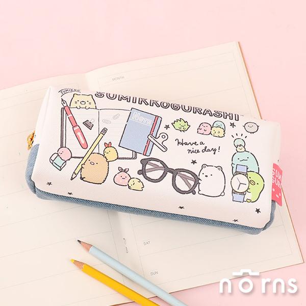 日貨角落生物筆袋 單寧系列- Norns 日本正版 鉛筆盒 牛仔拼布