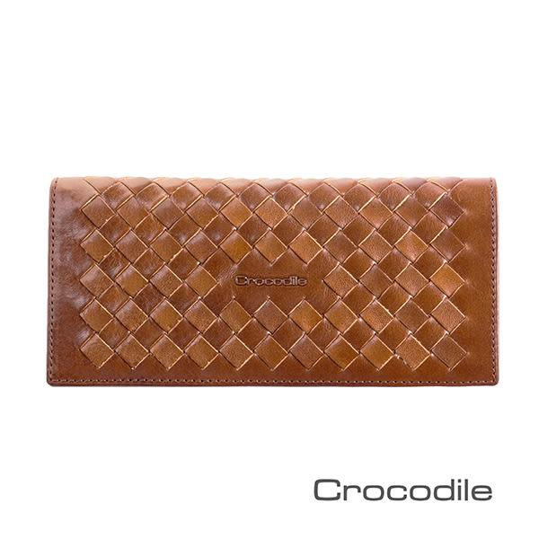 Crocodile 義大利植鞣製皮 Natural x Woven 編織系列長夾/皮夾 0103-07301
