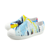 native JEFFERSON PRINT 洞洞鞋 懶人鞋 藍/白 中童 童鞋 12100101-8875 no939 20~22cm