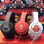 耳罩式耳機 魔鬼貓音魔耳機游戲耳機頭戴式線控耳麥電腦吃雞帶話筒重低音