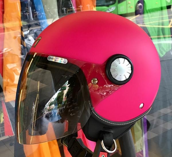 ASTONE安全帽,AJ(228),素色/消光桃紅