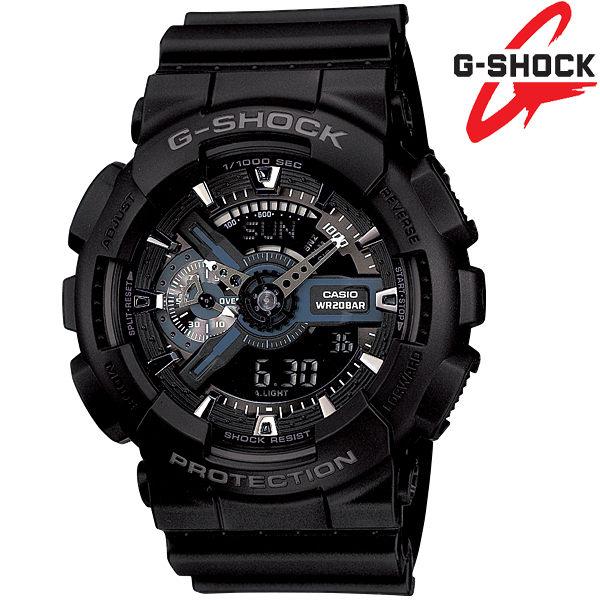 G-SHOCK GA-110-1B 雙顯錶 黑色液晶 男錶 世界時間 計時碼表 5組鬧鈴 GA-110-1BDR CASIO卡西歐