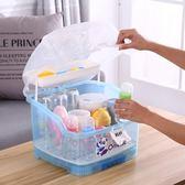 嬰兒奶瓶箱便攜式奶瓶收納箱盒嬰兒帶蓋防塵瀝水籃晾乾燥餐具儲物盒 衣間迷你屋LX