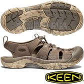 KEEN 1020287咖啡 NewPort H2 男戶外護趾涼鞋 水陸兩用溯溪鞋/運動健走鞋/沙灘戲水拖鞋