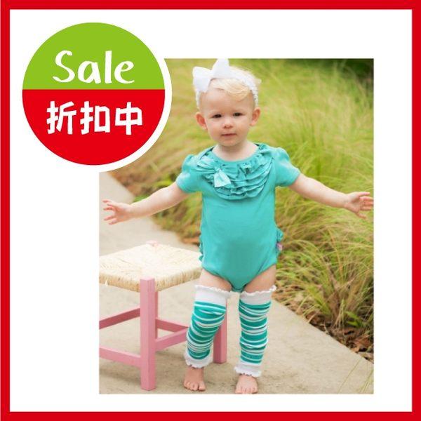 嬰幼兒襪套 / 日本製 / 綠色條紋 / 寶寶襪套 RuffleButts