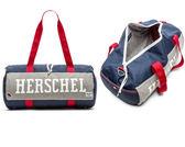 Hsin 7折 現貨 Herschel 高階 Sutton 中型 Hounds 聯名款 野狼 深藍 棉布 帆布 側背 手提 行李袋 旅行袋