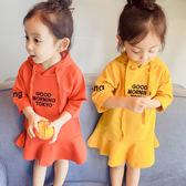女童嬰兒童裝春裝2018款女寶寶長袖連身裙