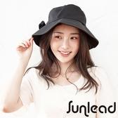 【南紡購物中心】Sunlead 日系防曬寬緣寬圓頂抗UV遮陽軟帽 (黑色)